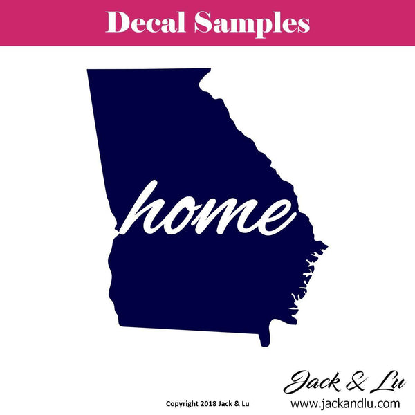 State Decal - Georgia with Home Script - Jack and Lu
