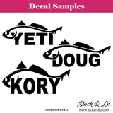 Fishing Decal - Personalized Yeti Red Fish Decal - Jack and Lu