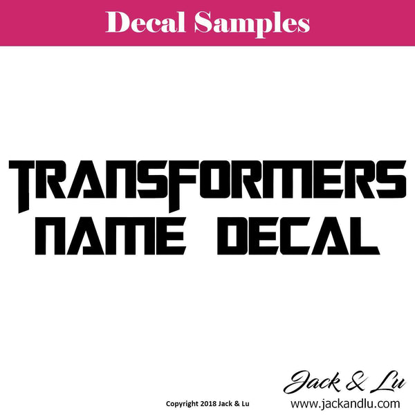 Transformers Movie Inspired Custom Name Decal - Jack and Lu