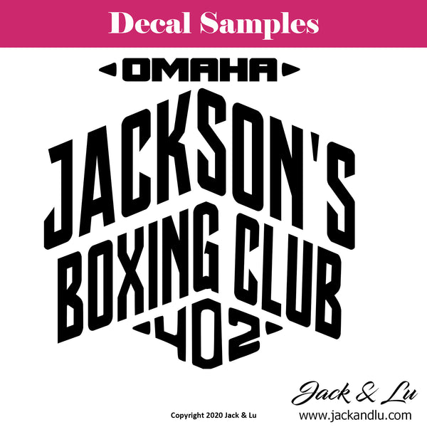 Omaha Jackson's Boxing Club 402 Vinyl Adhesive Decal - Jack and Lu