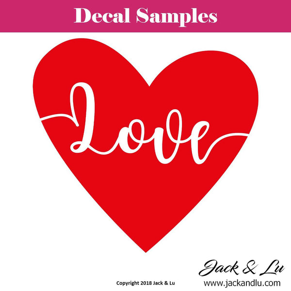 "Valentine's Day Decal - ""Love"" - Jack and Lu"