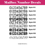 Mailbox Address Numbers Decal Set - Jack and Lu