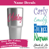 Custom Personalized Name Decals & Stickers for Cups and Tumblers - Jack and Lu