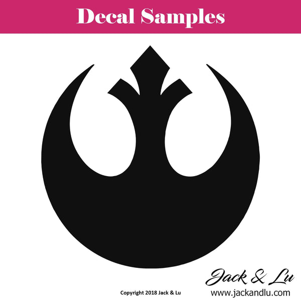 Rebel Alliance Crest - Star Wars - Vinyl Adhesive Decal - Jack and Lu
