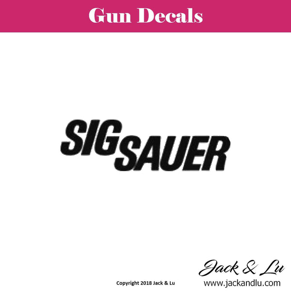 Gun Decal - Sig Sauer - Jack and Lu