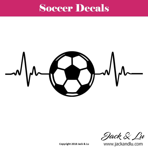 Soccer Heartbeat Decal - Jack and Lu