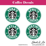 Starbucks Inspired Personalized Coffee Cup Custom Decal - Jack and Lu