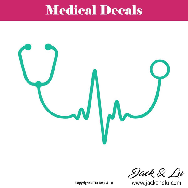 Stethoscope Heartbeat Decal - Jack and Lu
