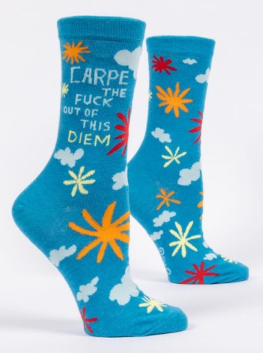 CARPE THE FUCK OUT OF THIS DIEM Women's Crew Socks - Jack and Lu