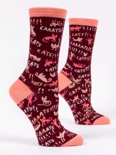CATS! Women's Crew Socks - Jack and Lu