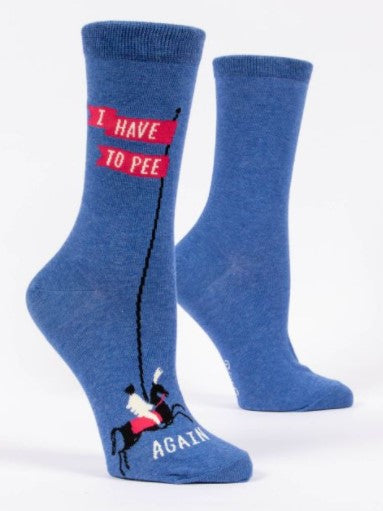 I HAVE TO PEE.... AGAIN Women's Crew Socks - Jack and Lu