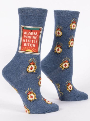 ALARM, YOU'RE A LITTLE BITCH Women's Crew Socks - Jack and Lu