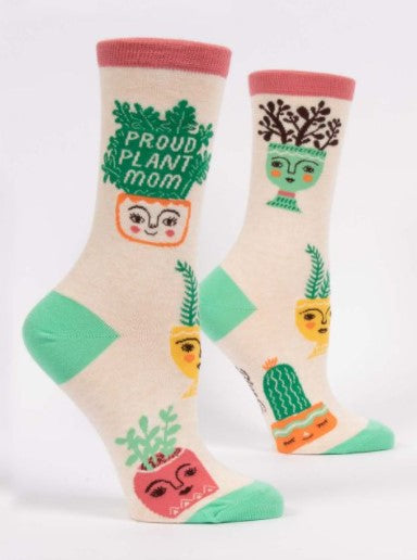 PROUD PLANT MOM Women's Crew Socks - Jack and Lu