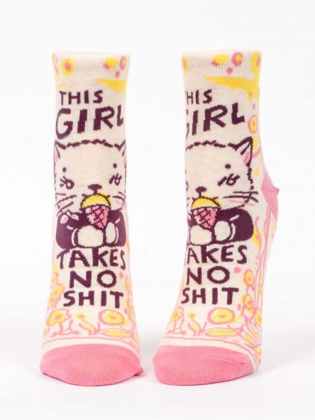 THIS GIRL TAKES NO SHIT Women's Ankle Socks - Jack and Lu