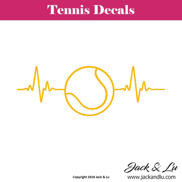 Tennis Ball Heartbeat Decal