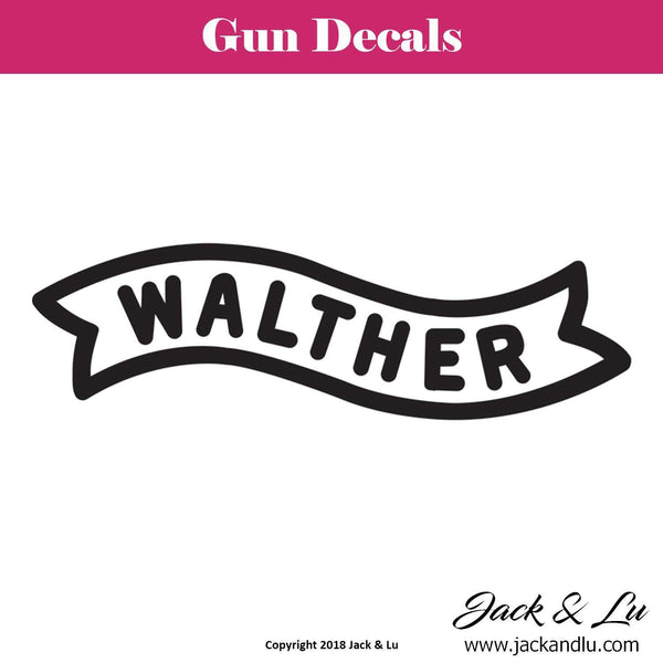 Gun Decal - Walther - Jack and Lu