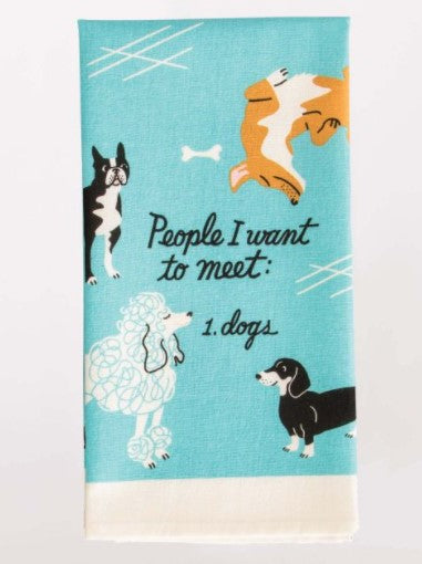 PEOPLE I WANT TO MEET: DOGS DISH TOWEL - Jack and Lu