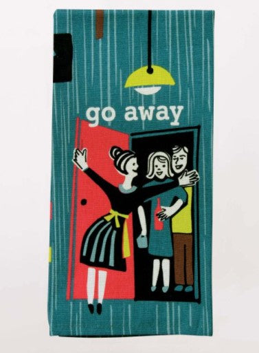 GO AWAY DISH TOWEL - Jack and Lu