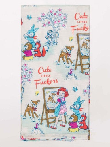 CUTE LITTLE FUCKERS DISH TOWEL - Jack and Lu