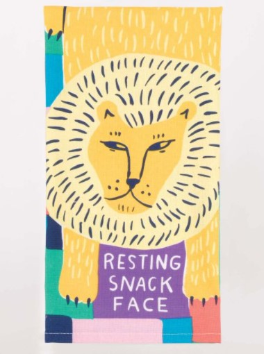 RESTING SNACK FACE DISH TOWEL - Jack and Lu