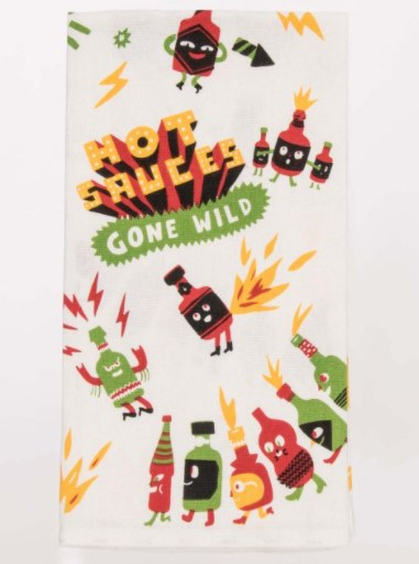 HOT SAUCES GONE WILD DISH TOWEL - Jack and Lu