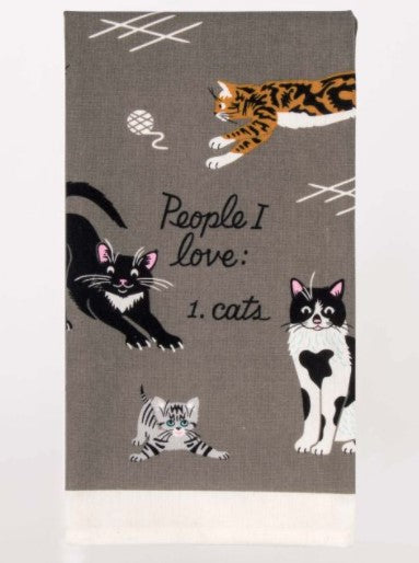 PEOPLE I WANT TO MEET: CATS DISH TOWEL - Jack and Lu