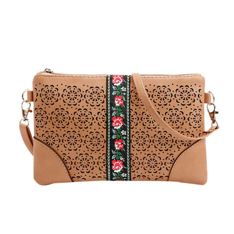 Hippie Embroidered Crossbody Bag
