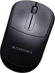 Zebronics USB Comfort + Wired Optical Mouse  (USB, Black)