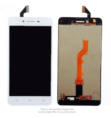 Display  for Oppo A37  -  With Frame (White)