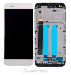 Display  for Mi A1  -  With Frame (White)