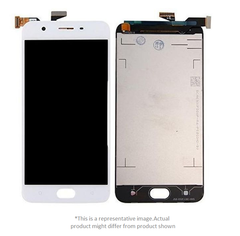 Display  for Oppo A57  -  With Frame (White)