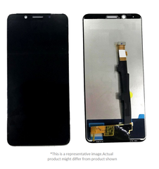 Display  for Oppo F5  -  With Frame (Black)