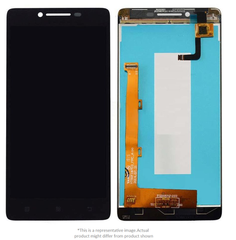 Display  for Lenovo A6000  -  With Frame (Black)
