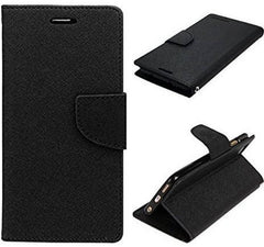 Black Mercury Flip Cover for Redmi Note 5 (Black, Waterproof, Artificial Leather)