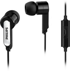 Philips SHE1405BK/94 Wired Headset with Mic  (Black )
