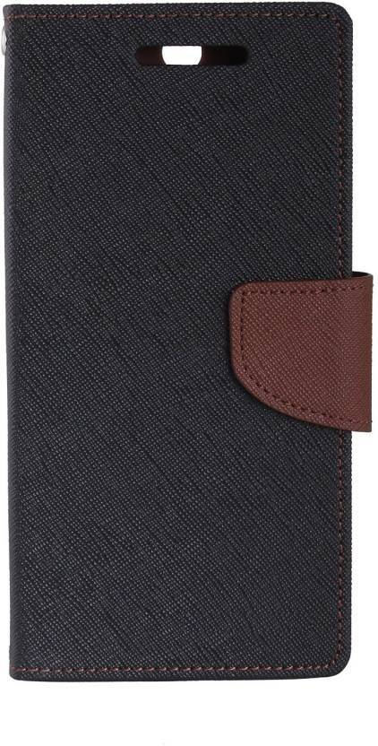 finest selection f0adb 9fb01 Brown Mercury Flip Cover for Redmi Note 5 Pro (Brown, Waterproof,  Artificial Leather)