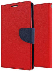 Red Mercury Flip Cover for Nokia 6 (Red, Waterproof, Artificial Leather)