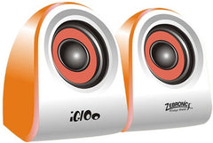 Zebronics 2.0 Multimedia Speakers Igloo Laptop/Desktop Speaker  (Orange, 2.0 Channel)
