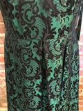 Studio One Black and Green Short Dress Size 6