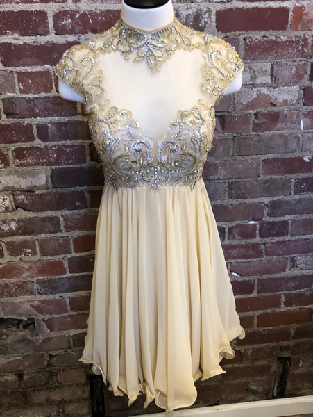 Tony Bowls Gold Short Dress Size 4