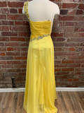 Alyce Yellow Prom Dress Size 0
