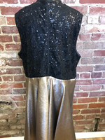 City Triangles Black and Gold Short Dress Size 22