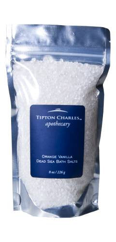 Dead Sea Bath Salts (8 oz) Orange Vanilla