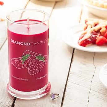 Strawberry Rhubarb Ring Candle