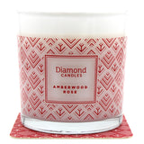 Amberwood Rose Luxe Ring Candle With Sterling Silver Ring