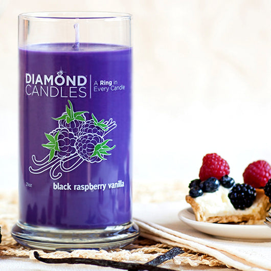 Black Raspberry Ring Candle Diamond Candle
