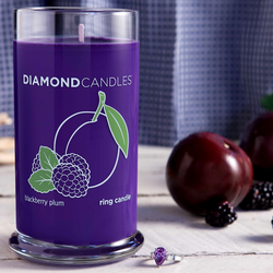 Blackberry Plum RIng Candle