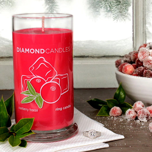 Cranberry Freeze Ring Candle