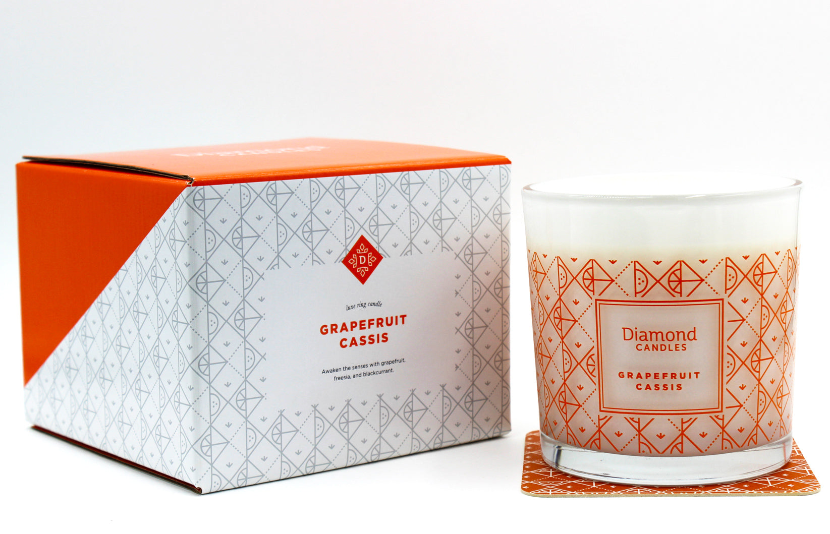Grapefruit Cassis Luxe Ring Candle With Sterling Silver Ring