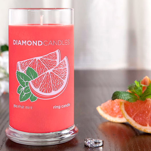 Grapefruit Mint Ring Candle